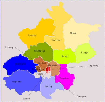 map of beijing districts